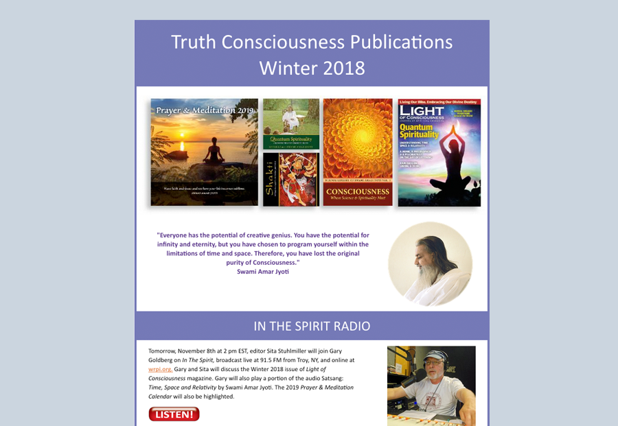 Join the Light of Consciousness Magazine Mailing List